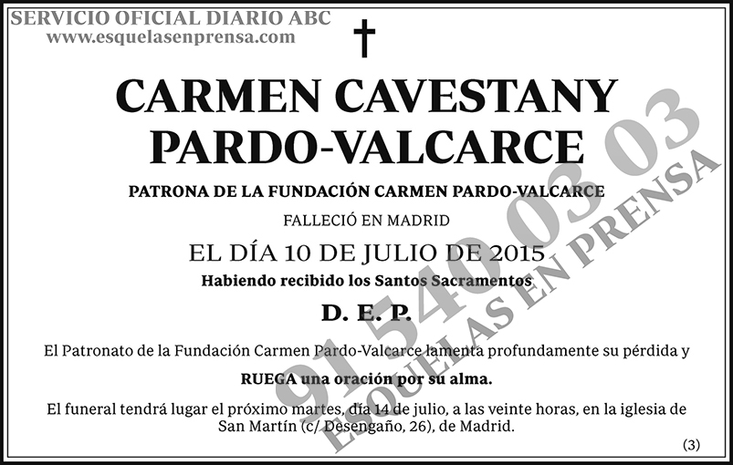 Carmen Cavestany Pardo-Valcarce